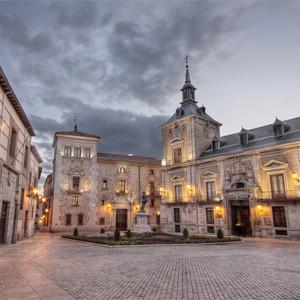 Площадь Plaza de la Villa в Мадриде