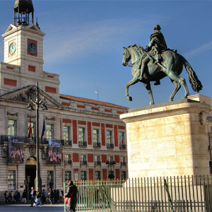 Площадь Puerta del Sol в Мадриде