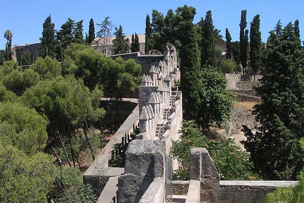Крепость в Малаге Испания