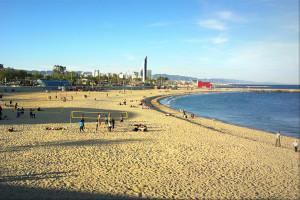 Пляж Нова Икария Барселона спокойный пляж для уединения