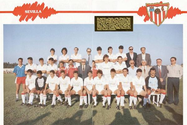 Историческое фото команды Севилья.