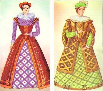 Испанское женское платье