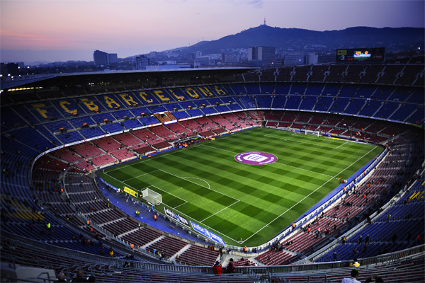 стадион камп ноу в барселоне - домашний стадион величайшего клуба мира
