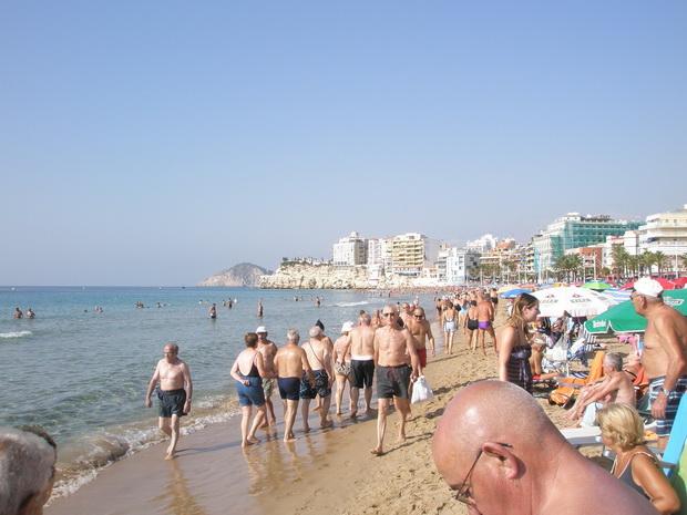 Пляж Playa Levante.
