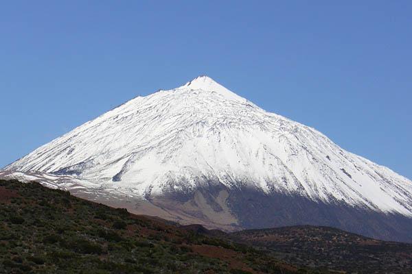 Зимой на Канарах снег можно увидеть только на вершине вулкана.