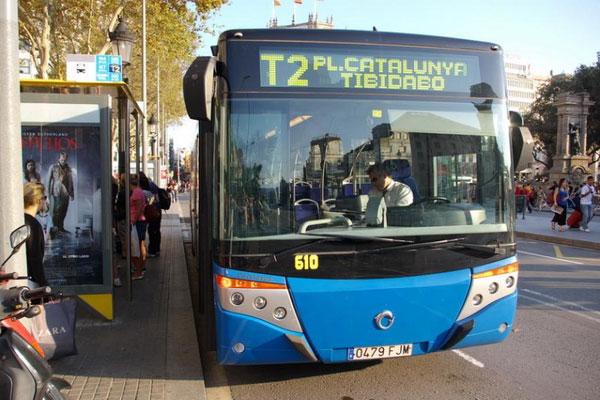 Автобусы отправляются от площади Каталонии.
