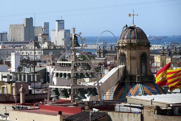 Каталонская столица — вид сверху.