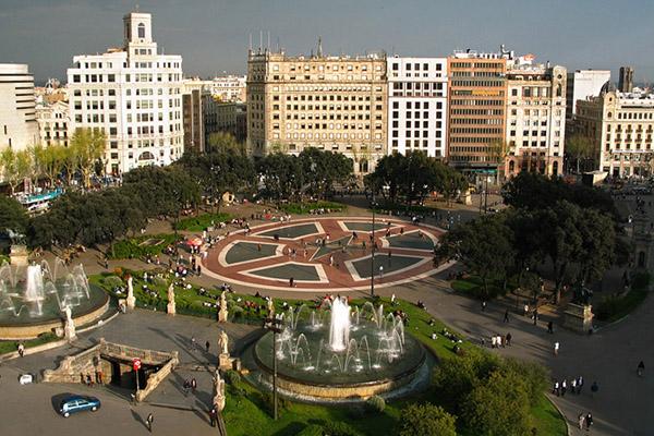 Площадь Каталонии.