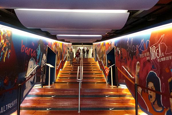 Лестница на стадион.