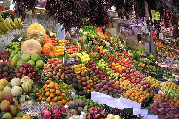 Овощи, фрукты.