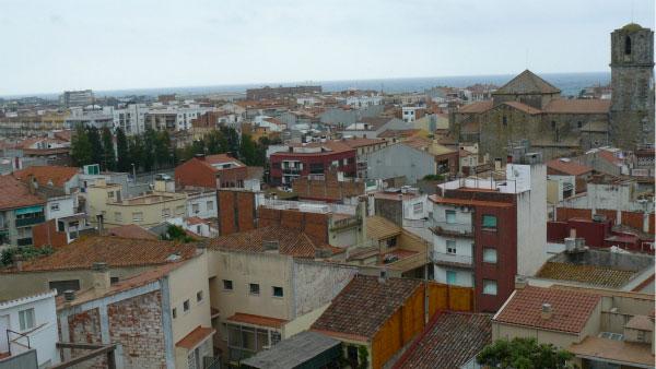 Вид на город сверху.