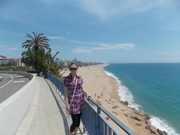 Вид на пляж.