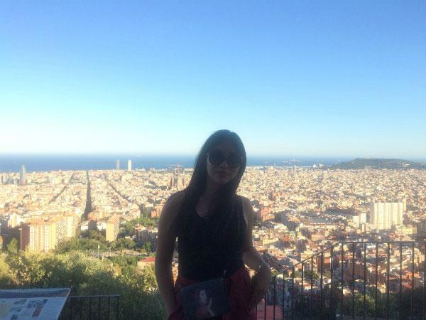 Барселона со смотровой площадки.