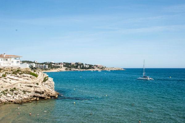 Пляж в Испании.