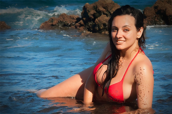 Пляж на острове Тенерифе на Канарских островах