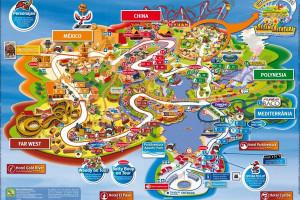 Схема парка Порт Авентура