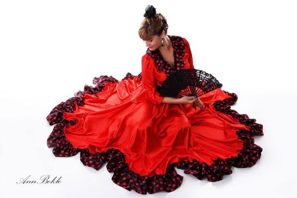 женское платье для танца фламенко