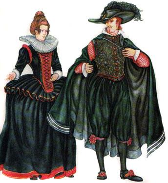 женский и мужской испанский костюм