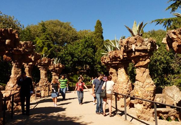 Парк Гуэль в Барселоне.