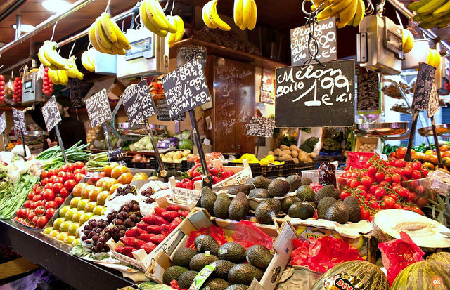 рынок Бокерия Барселона.