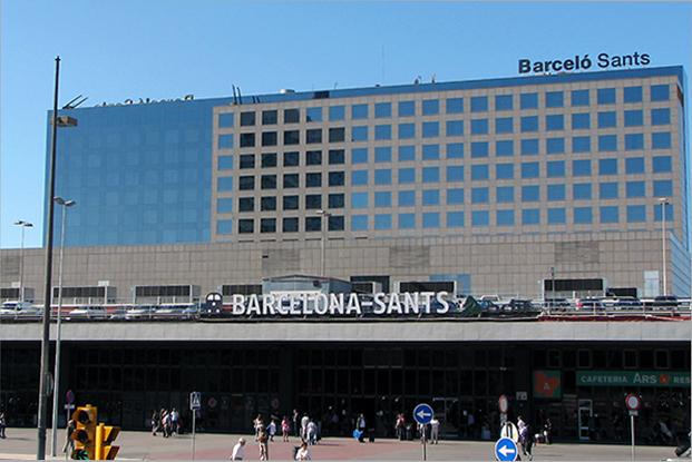 Железнодорожный вокзал столицы Каталонии — Barcelona-Sants.