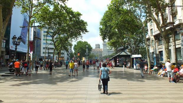 Рамбла в Барселоне.