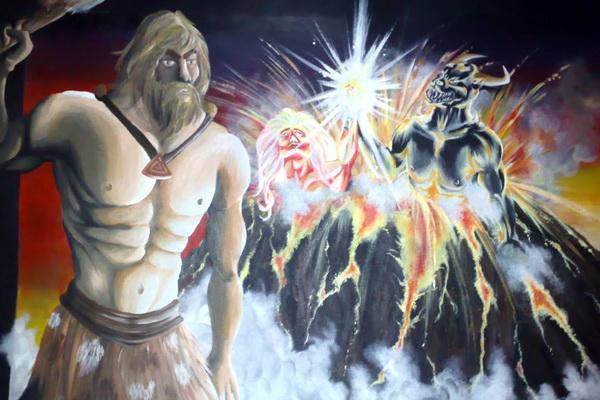 Аборигены считали, что в недрах горы заточен злой дух Гуайота.