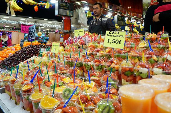 Рынок Боккерия - рай для гурманов.