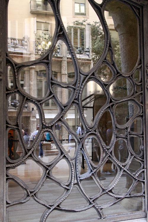 Кованное стеклянное панно.