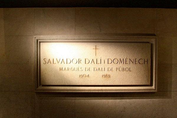 Могила Сальвадора Дали.