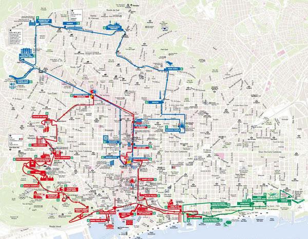 Схема маршрутов Бас Туристик.