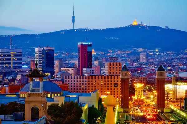 Вечерняя Барселона.