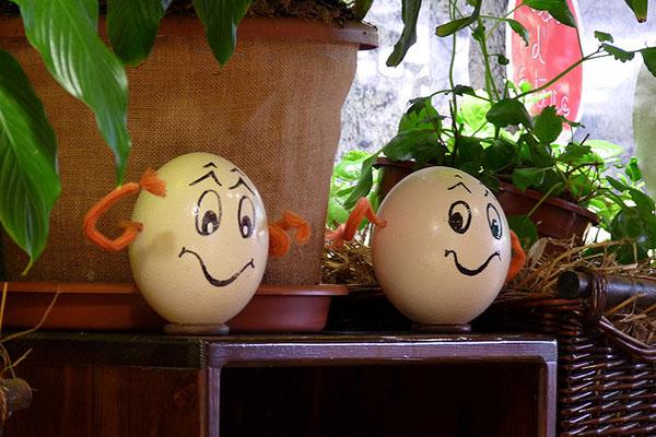 Весёлые яйца.