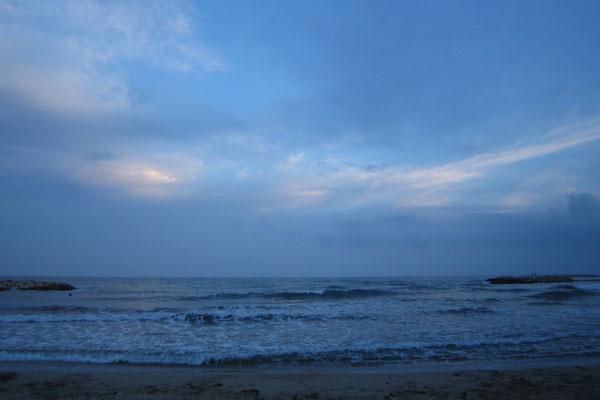 Вечернее море.