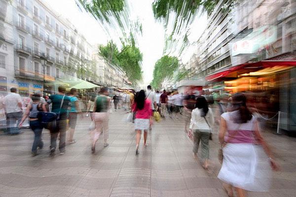 Бульвар Рамбла в Барселоне.