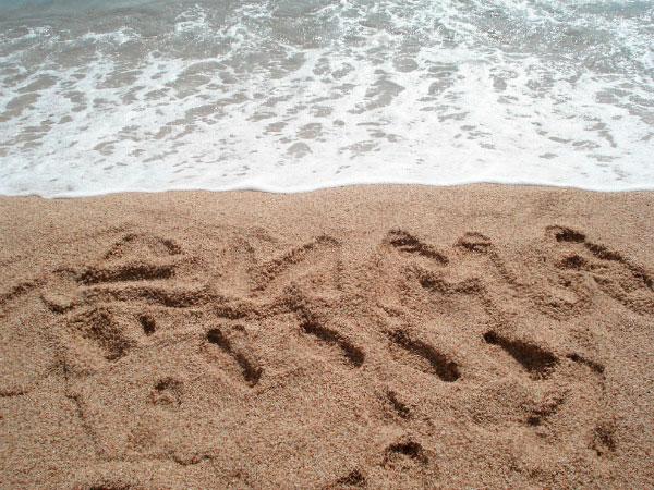 Следы на песке.