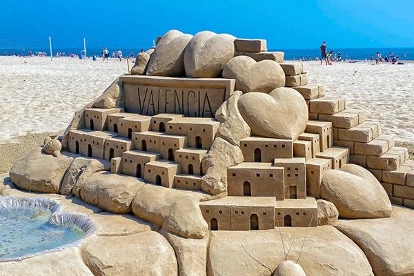 Скульптура из песка.