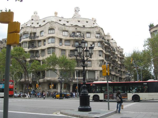 На улицах Барселоны.