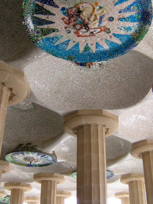 Плафоны из мозаики.