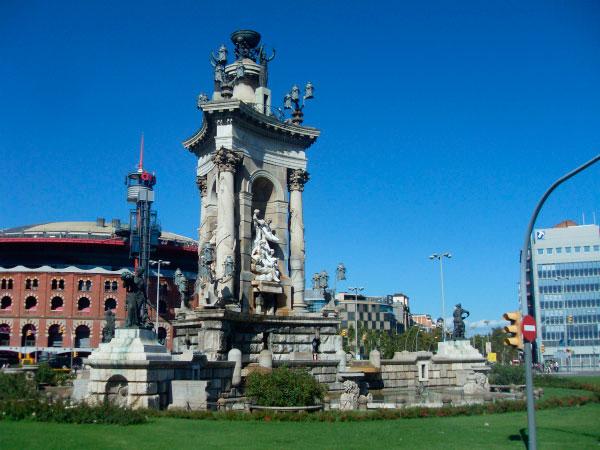 Площадь в Барселоне.