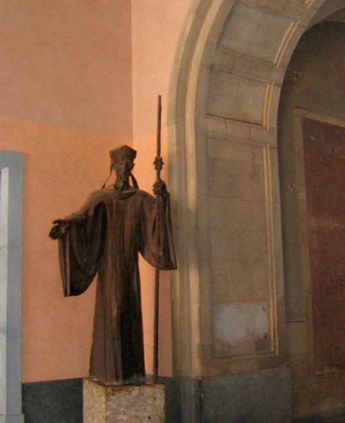 Статуя св. Бенедикта.