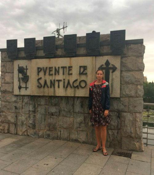 Табличка на мосту де Сантьяго.