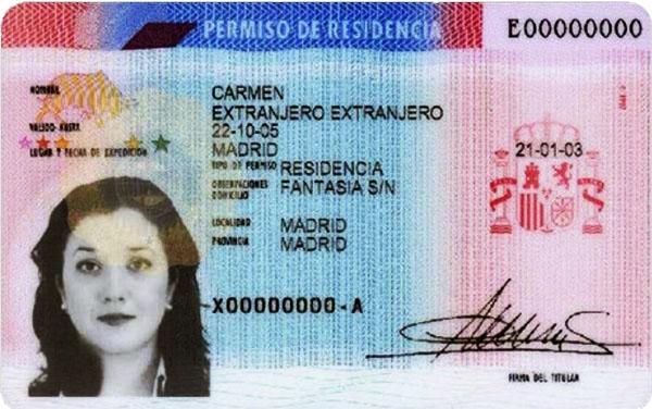 Испанский вид на жительство.