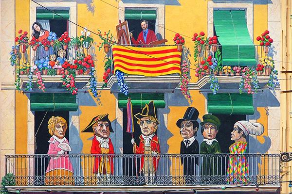 Фасад дома на Placa dels Sedassos.