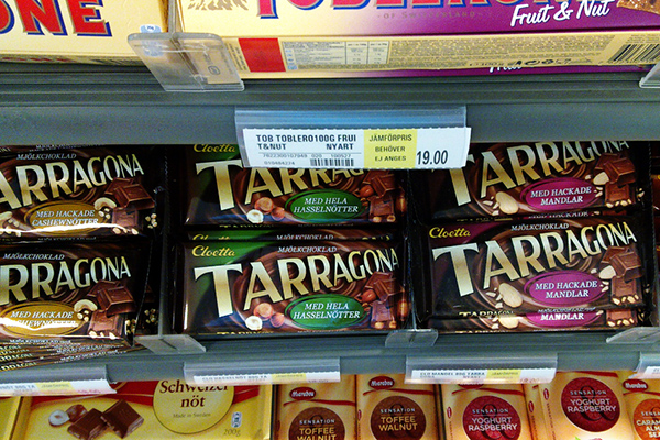 Шоколад Tarragona.