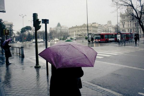 Дождливо.