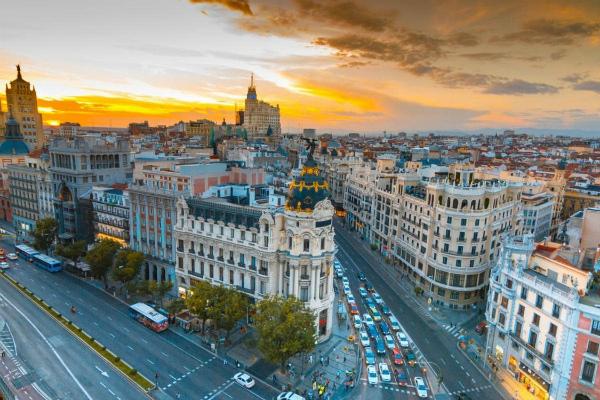 Мадрид весной 2020.